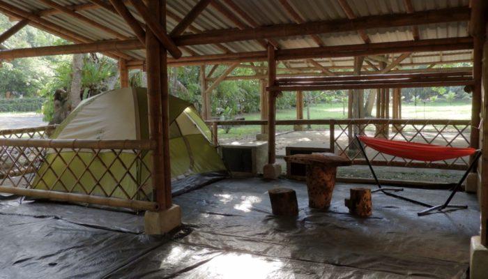 Camping bajo techo